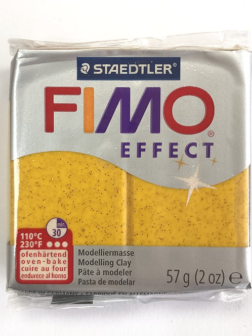 Fimo Effect Modelling Clay - 8020-112 Glitter Gold, 57g