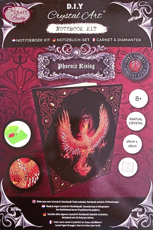 Craft Buddy Phoenix Rising by Anne Stokes Crystal Art Notebook