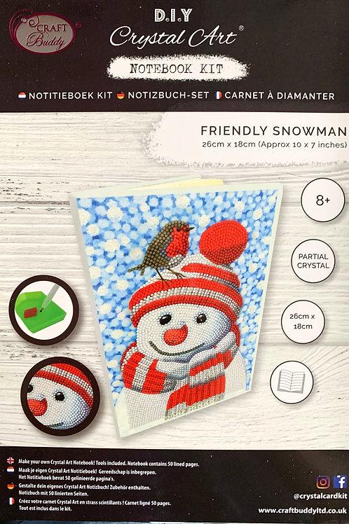 Craft Buddy Friendly Snowman Crystal Art Notebook