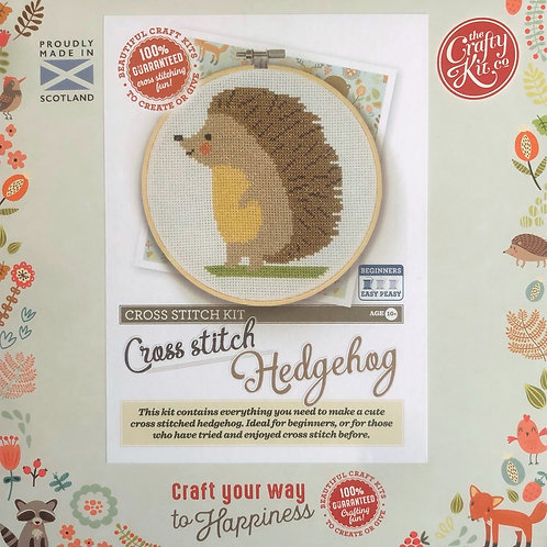 The Crafty Kit Company - Hedgehog Cross Stitch Kit