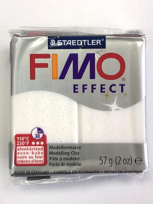 Fimo Effect Modelling Clay - 8020-052 White Glitter, 57g
