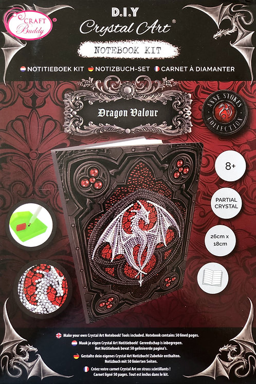Dragon Valour by Anne Stokes Crystal Art Notebook