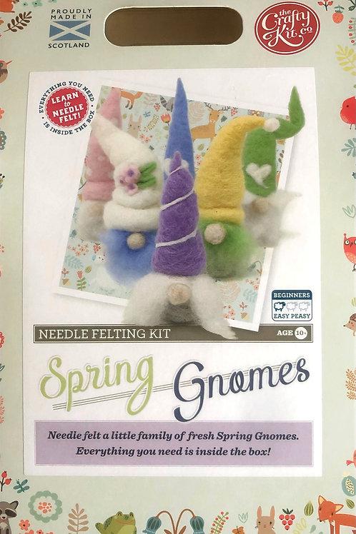 The Crafty Kit Company - Spring Gnomes Needle Felting Kit