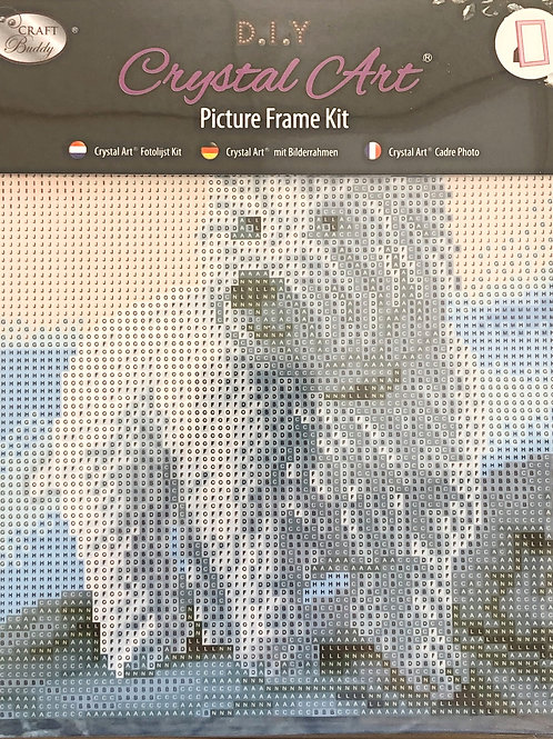 Westie Crystal Art Picture Frame Kit 21x25cm