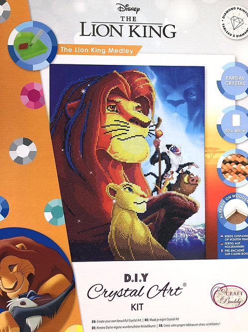 Disney The Lion King Medley Crystal Art Picture Frame Kit 40x50cm