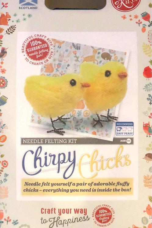The Crafty Kit Company - Chirpy Chicks Needle Felting Kit