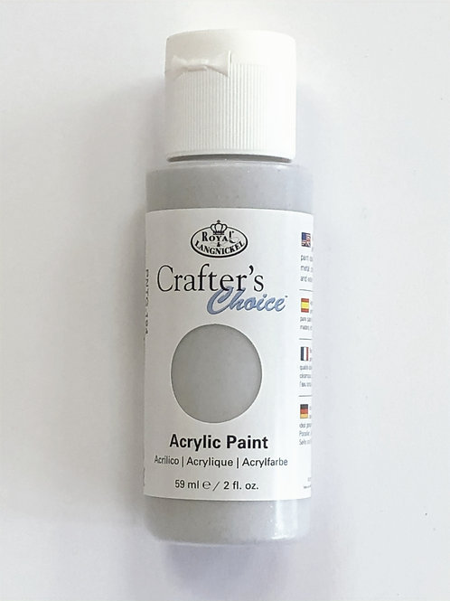 Crafter's Choice Acrylic Paint, Gleaming Silver - PNTG-194
