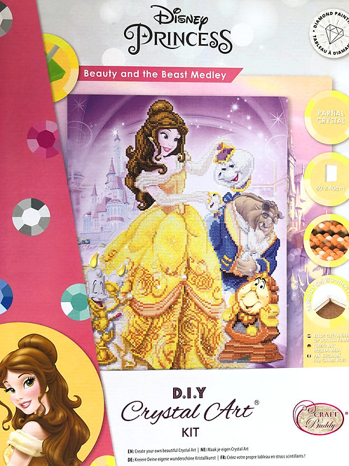 Disney Beauty and the Beast Crystal Art Picture Frame Kit 40x50cm