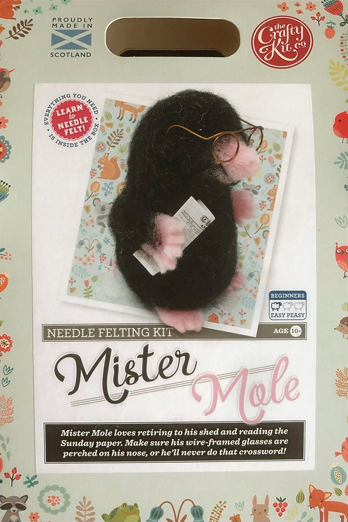 The Crafty Kit Company - Mister Mole Needle Felting Kit