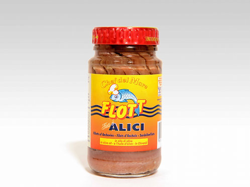 Flott: Filetti di Alici in Olio di Oliva (300g)