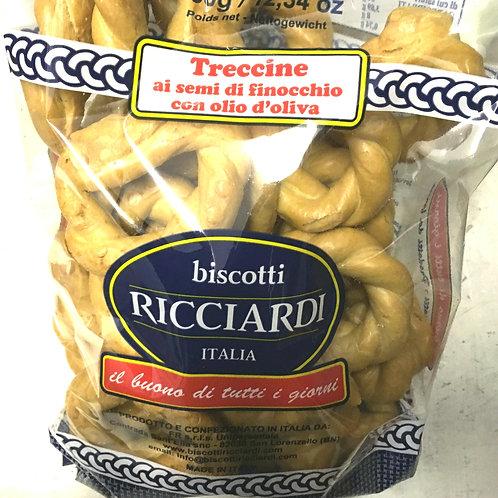 Ricciardi Treccine al semi di finocchio con olio d'oliva (350g)
