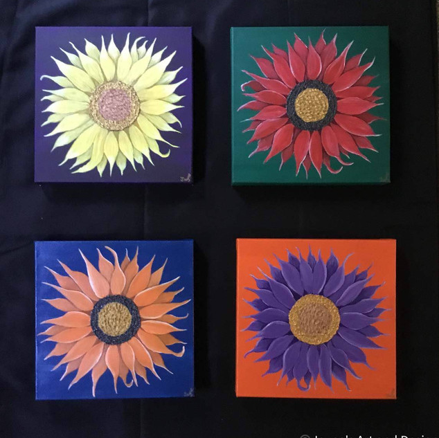 Sunflowers paintings