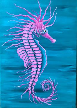 Pretty Pink Seahorse