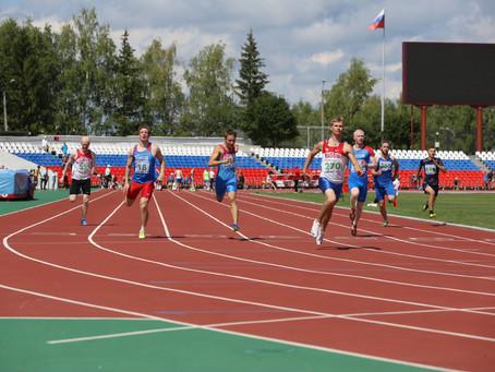 Роман Тарасов и Баранова Арина - чемпионы России по легкой атлетике (спорт слепых)
