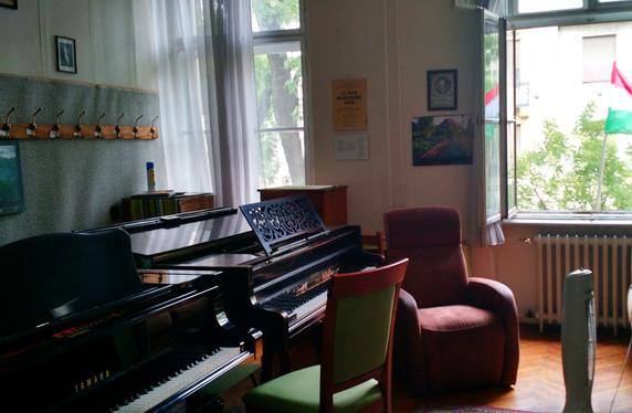 Piano studio room