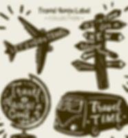 Colección_de_etiquetas_de_viaje_vintage_