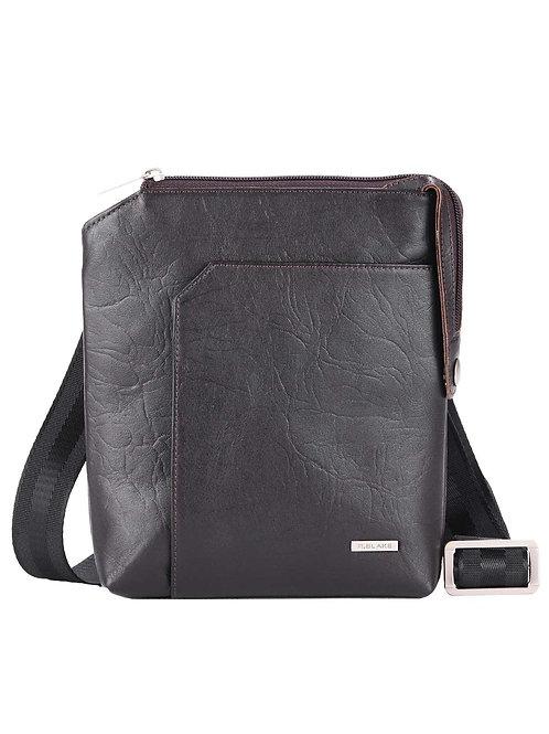 чёрная кожаная мужская сумка