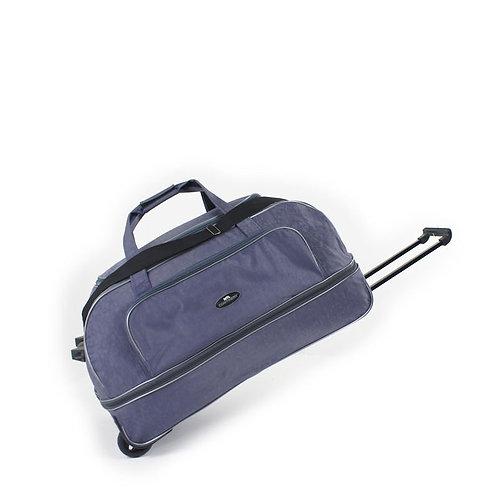 синяя сумка на колёсах