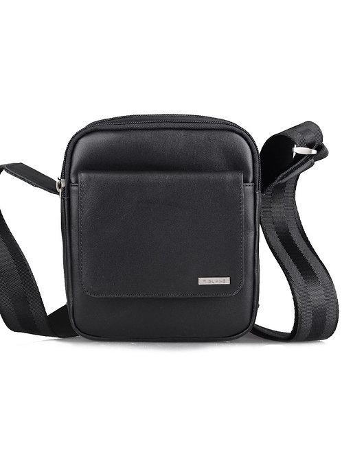 мужская сумка из кожи чёрная r.blake