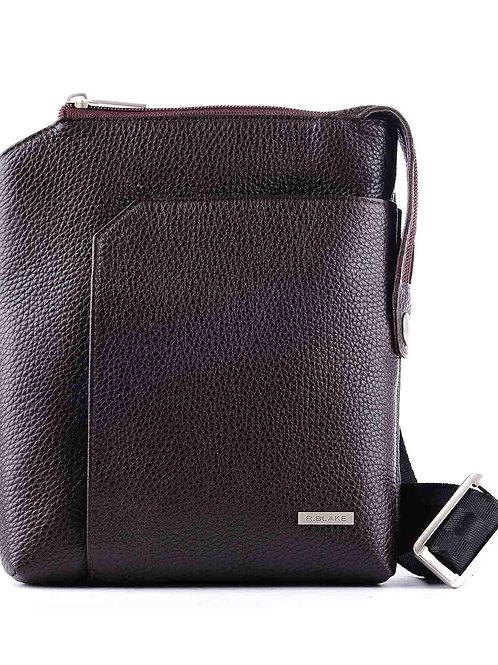 коричневая кожаная мужская сумка