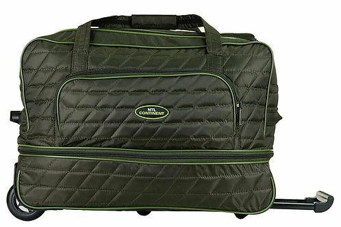 зелёная сумка на колёсах