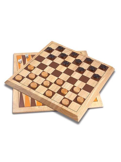 Набор игр: шашки + нарды