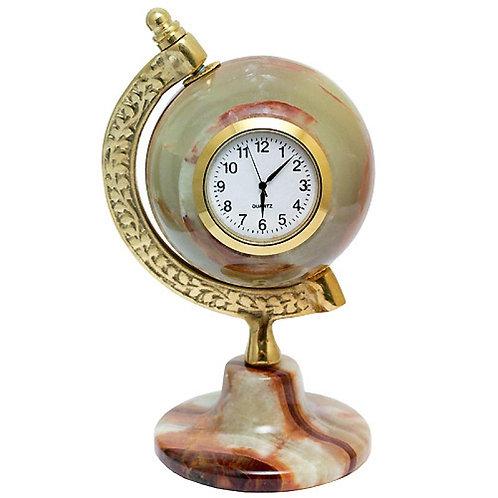 Часы-глобус из оникса