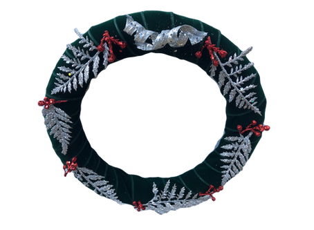 Simple Silver Holiday Wreath