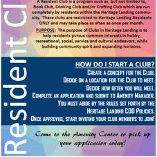 Resident Clubs