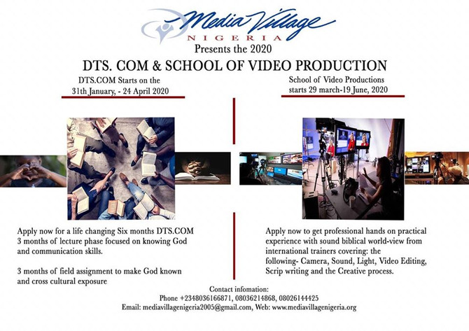 2020 Discipleship Training School and School of Video Production