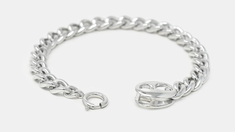 Large Double Anchor Clasp Bracelet
