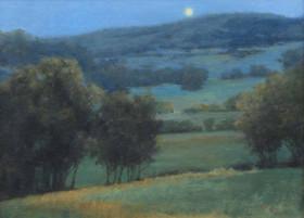 Moonlit Hills  12x16