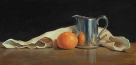 Reflection with Orange and Silver