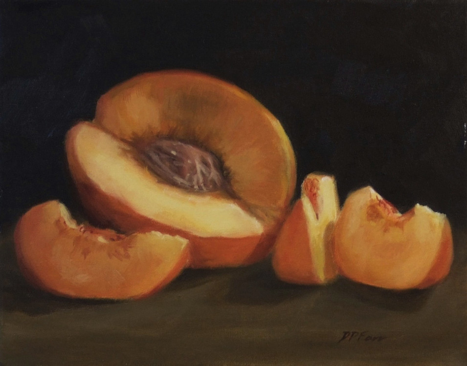 Robyn's Peaches  8x10