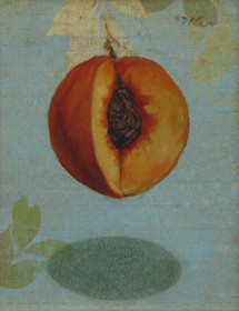 Hanging Peach   SOLD