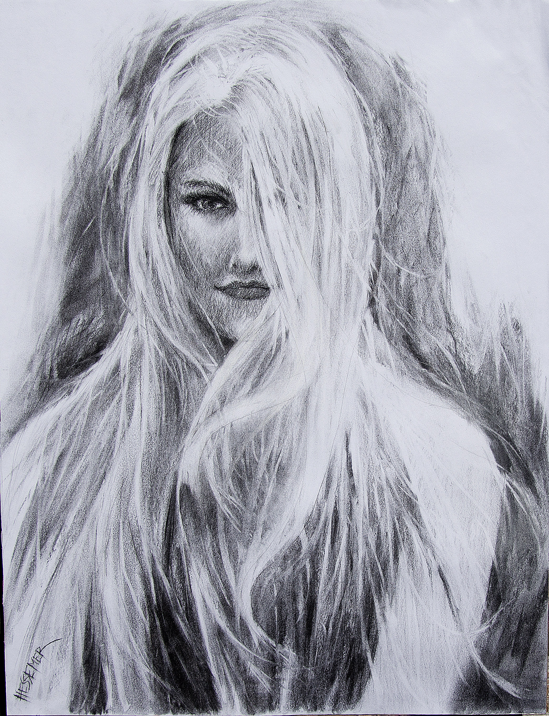 LUCY IN CHARCOAL