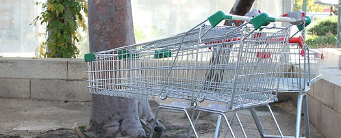 abandoned trolley