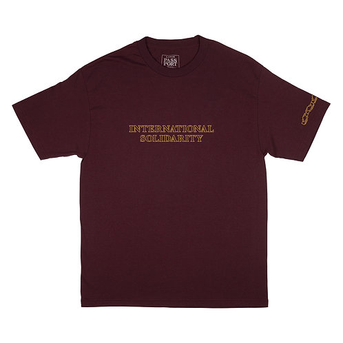 Tee Intersolid Burgundy