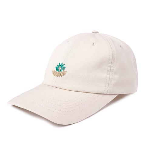 Caps Field Plant Dad Hat Light Beige