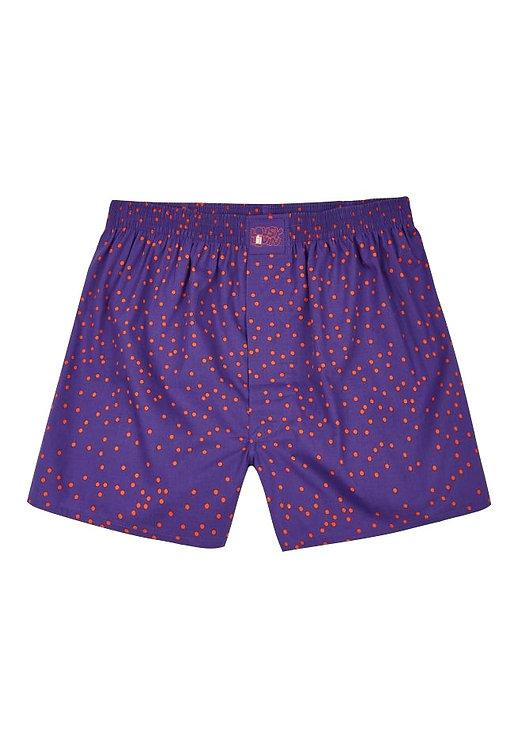 Boxershorts Dots Purple