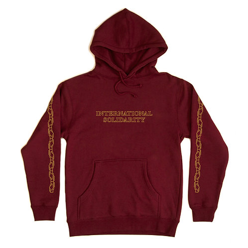 Hoodie Intersolid Bourgundy