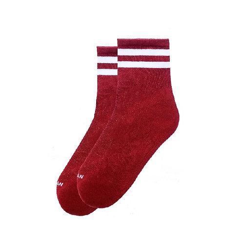 Ankle High-Crimson
