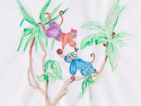 Deux singes en un palmier