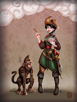 Pirate Liu & Monkey