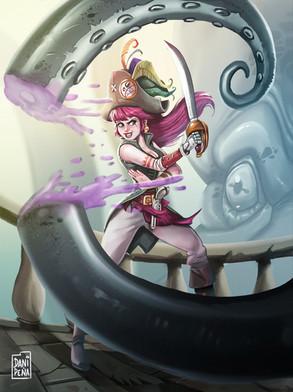Pirate woman design