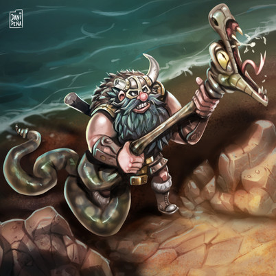 Viking VS Snake