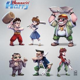 Hammerin_Harry character design