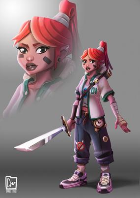 character design swordwoman