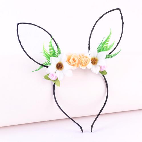 Hollow Floral Rabbit Ears Headband