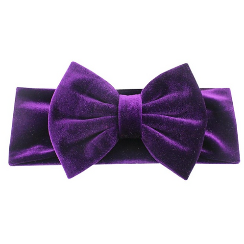 Solid Velvet Bow Turban